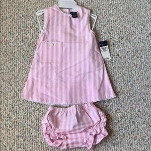 Ralph Lauren girls size 18 mos dress & bloomers